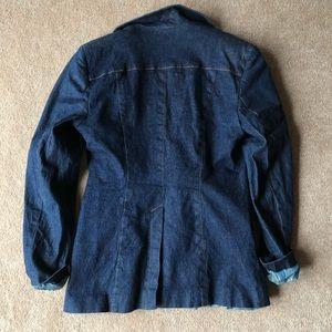 bebe Jackets & Coats - Vintage bebe faux-denim blazer jacket